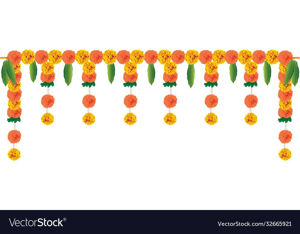 Festival Marigold Garland Decoration For Door Entrance Download A Free Preview Or High Quality Adobe I Flower Phone Wallpaper Garland Decor Psd Free Photoshop