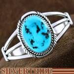 Native American Sleeping Beauty Turquoise and Sterling Silver Bracelet