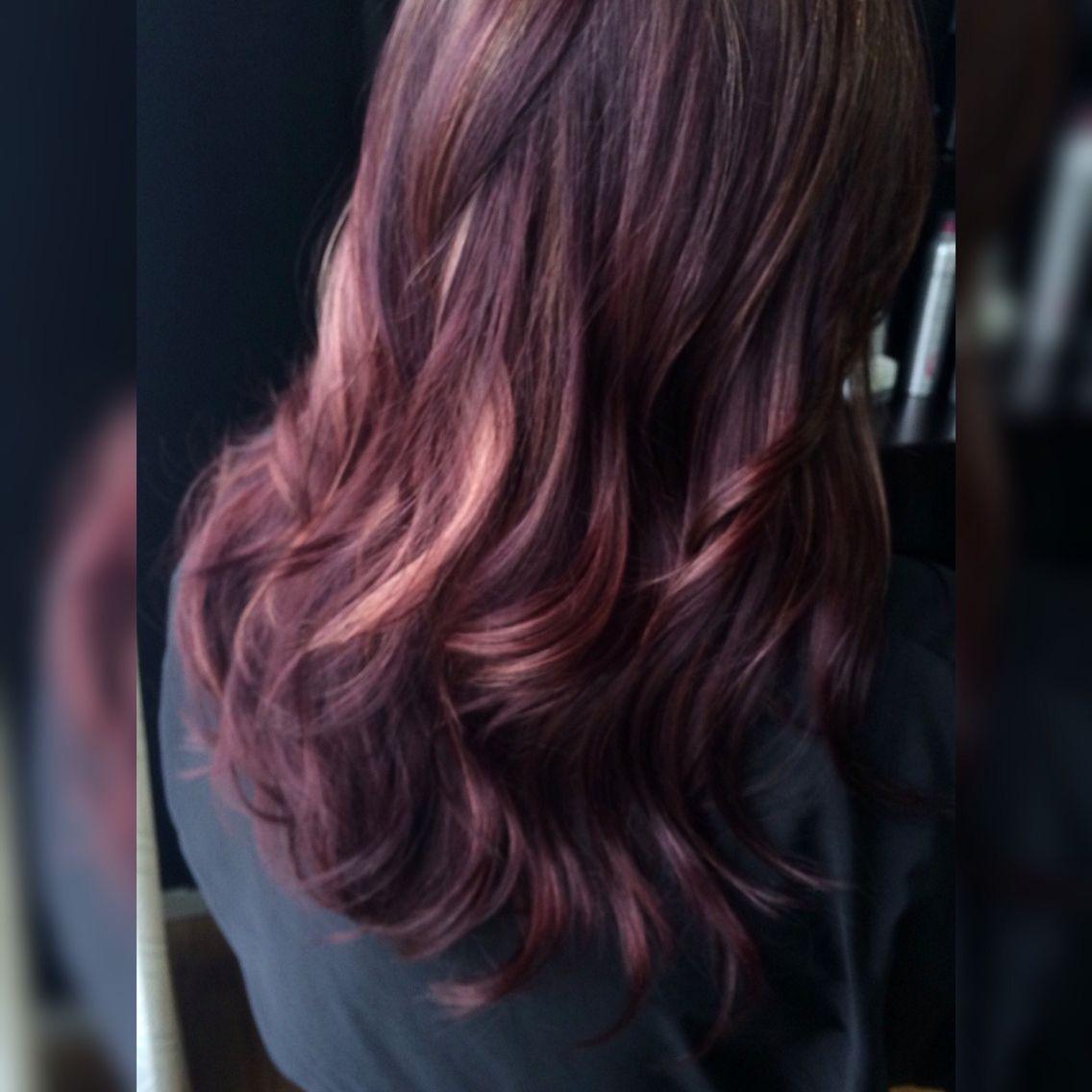 Plum Berry Hair Color For Fall Fall Winter Hair Color Plum Hair Hair Beauty