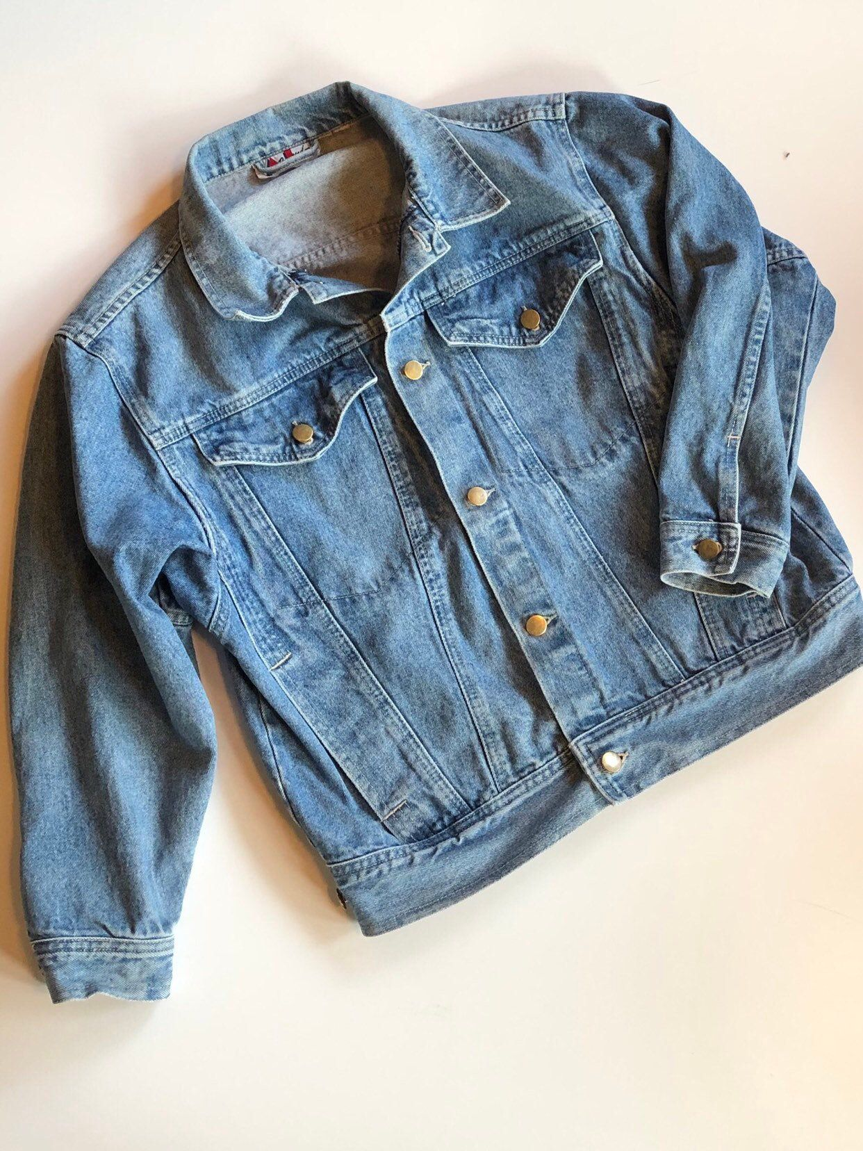 Vintage 1980s Jean Jacket Small Distressed Faded Denim Etsy In 2021 Denim Jacket Women Vintage Denim Jacket Vintage Jean Jacket [ 1656 x 1242 Pixel ]