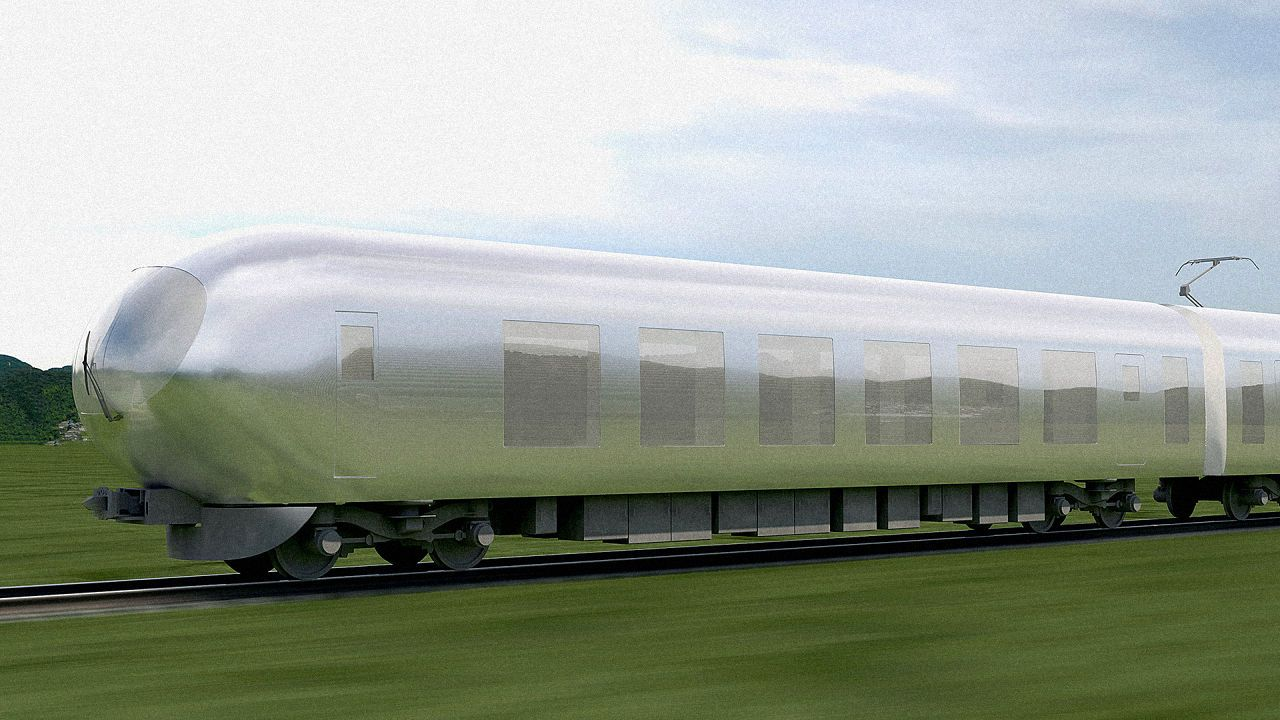 Architect Kazuyo Sejima wants Tokyo's next local express trains to be as hard to see as Wonder Woman's jet plane.
