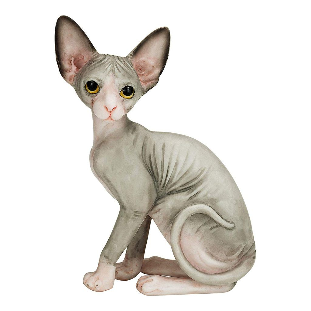 4 1 Sphynx Cat Hand Painted Cat Statue Cat Figurine Cat Collectible Cat Sculpture For Every Cat Lover Whether They Own Hairless Cat Sphynx Cat Cat Gifts