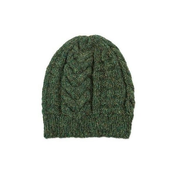 NOVICA Hand Knit Green Alpaca Blend Hat Peruvian Accessories ($45) ❤ liked on Polyvore featuring accessories, hats, clothing & accessories, green, knit, hand knit hats, novica, green hat and hand knitted hats