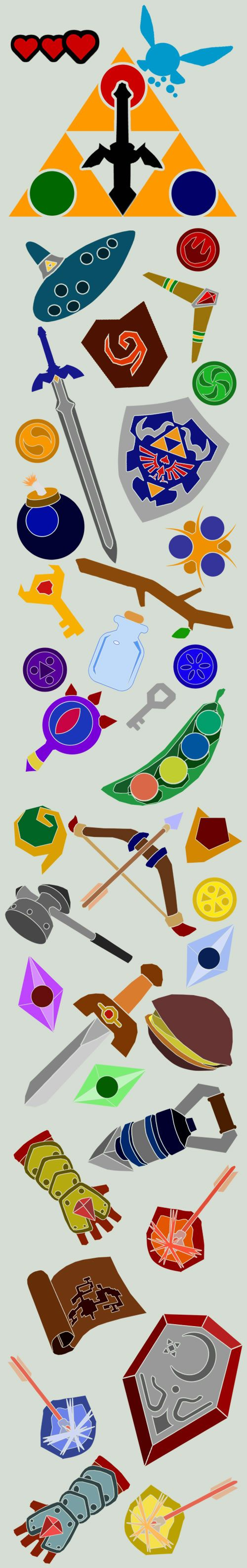 Loz oot items by sirnosh neardyness pinterest deviantart