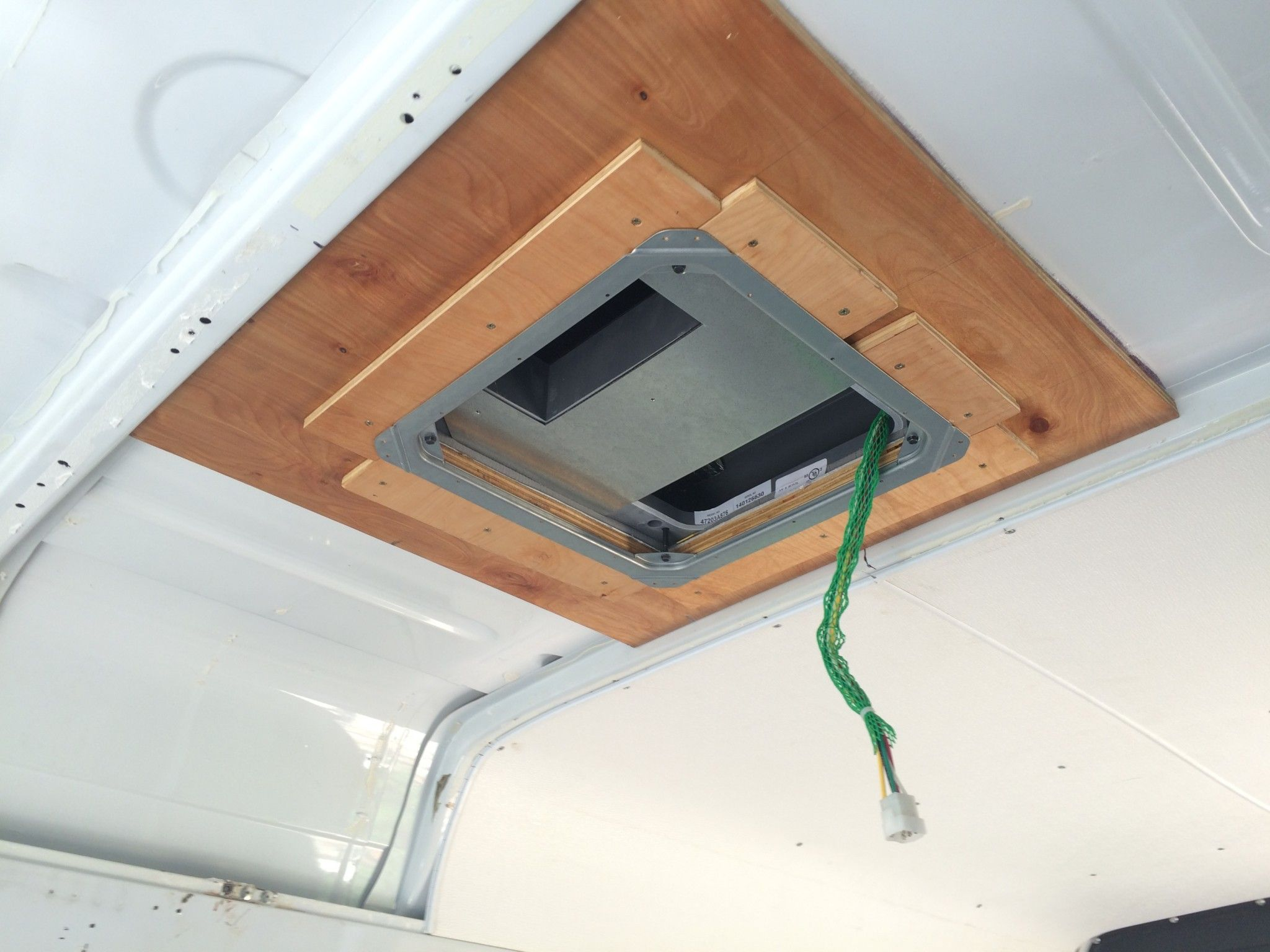 Coleman Mach 8 rooftop unit secured with the bracket and