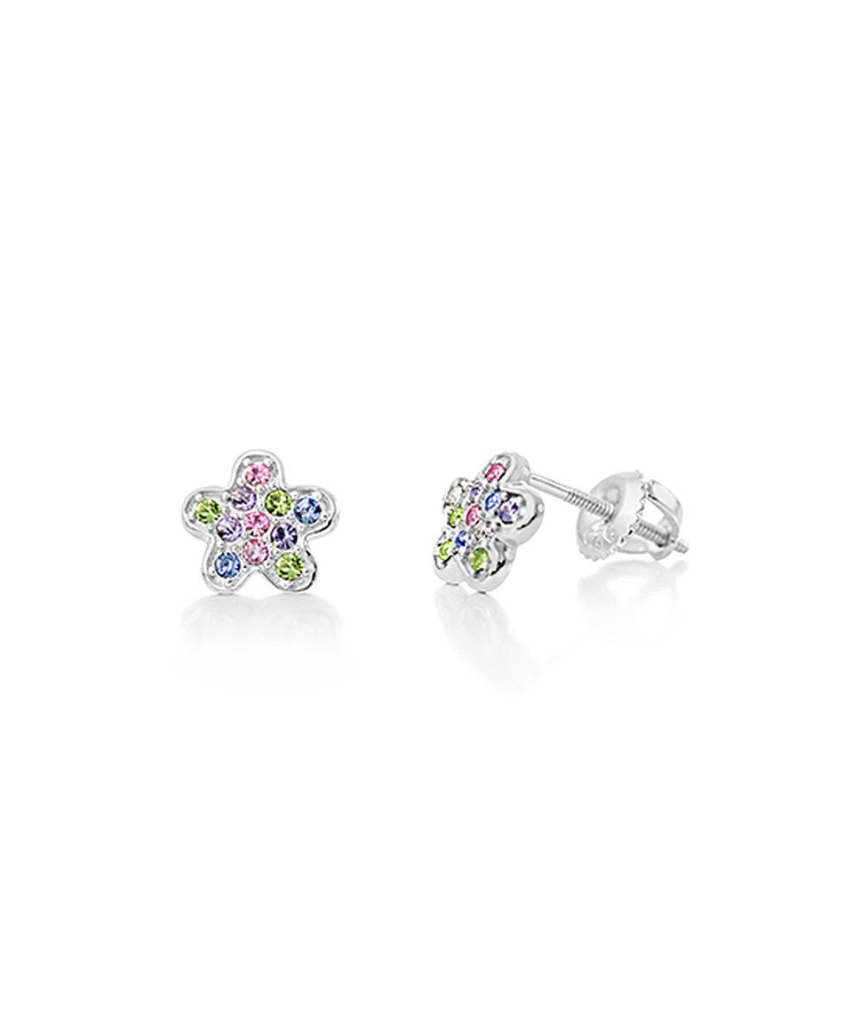 e90b109fa99e5 This Crystal Flower Stud Earrings Made With SWAROVSKI ELEMENTS by ...