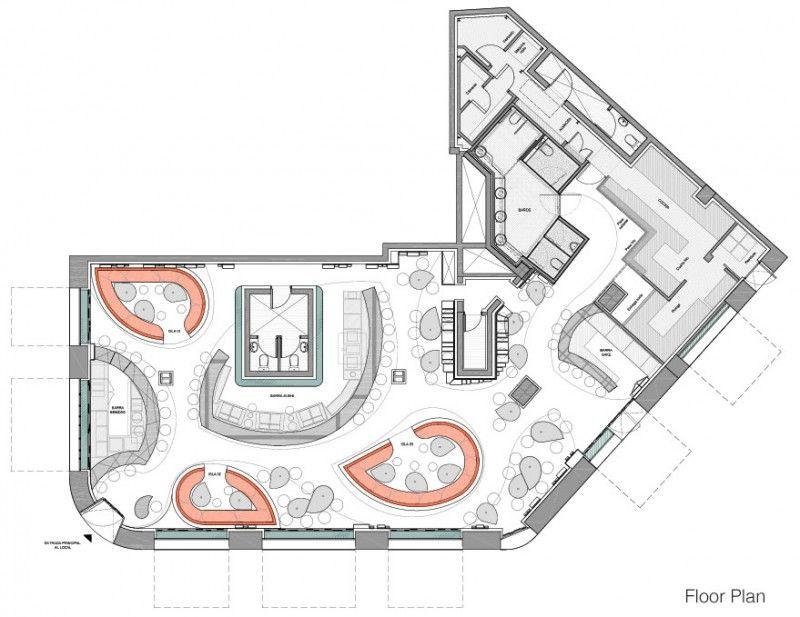 Ikibana Paral Restaurant By El Equipo Creativo Restaurant Layout Restaurant Floor Plan Restaurant Plan