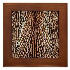 Awesome Tiger Skin Design Framed Tile> Real Tiger Skin Design> Victory Ink Tshirts and Gifts