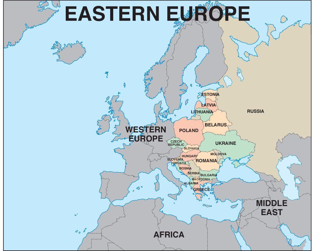 Image result for eastern europe map  maps  Pinterest  Eastern