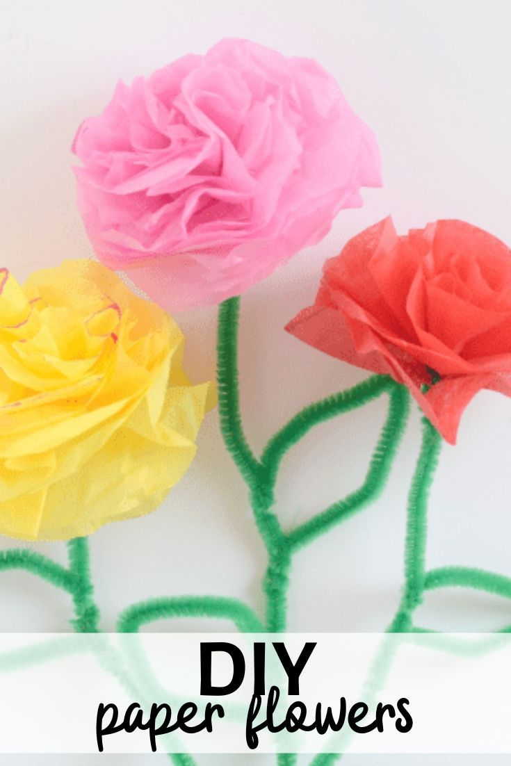 Brighten Someone Special's Day with these Easy Tissue Paper Flowers!