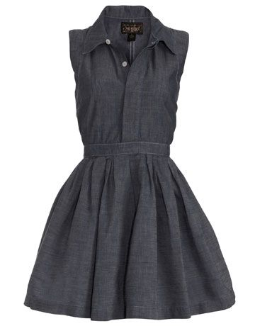 classy jean dress...need to find a cheaper version