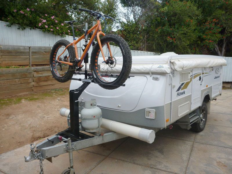 Isi extreme duty bicycle carrier for the jayco camper