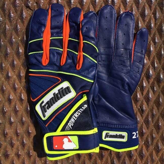 What Pros Wear Jose Altuve 39 S Franklin Powerstrap Batting Gloves Batting Gloves Baseball Accessories Jose Altuve