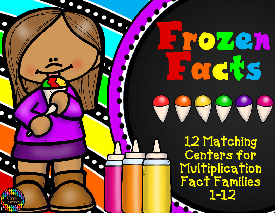3 Oa 1 Frozen Facts Multiplication Math Centers