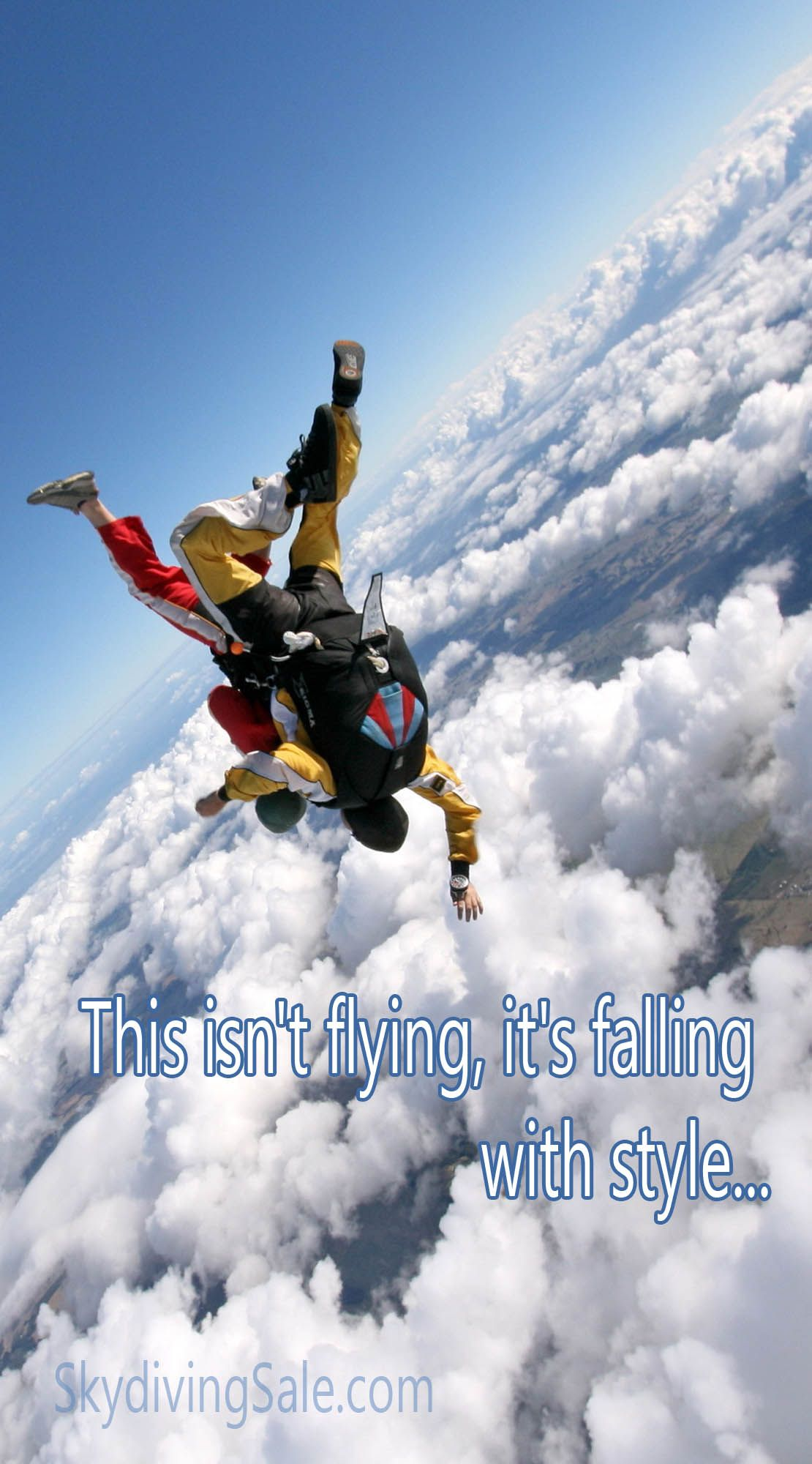 This Isn T Flying It S Falling With Style Skydiving Paragliding Fly Quotes