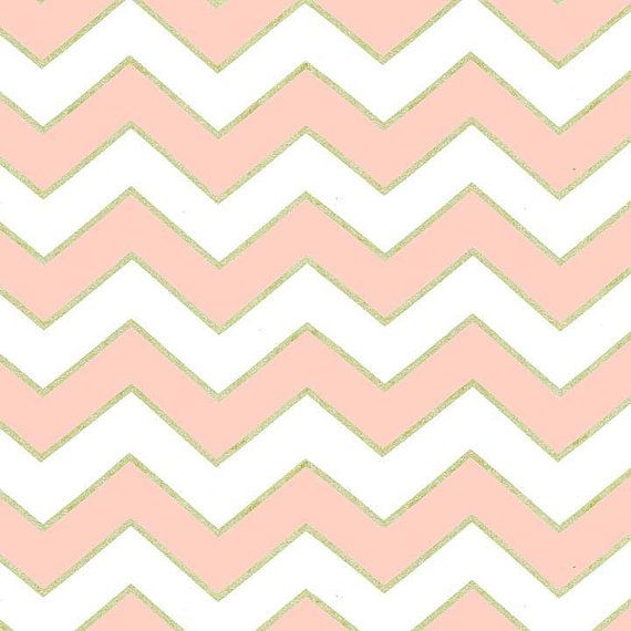 Metallic Gold, Chic Chevron, Blush and White, Michael Miller Glitz ...