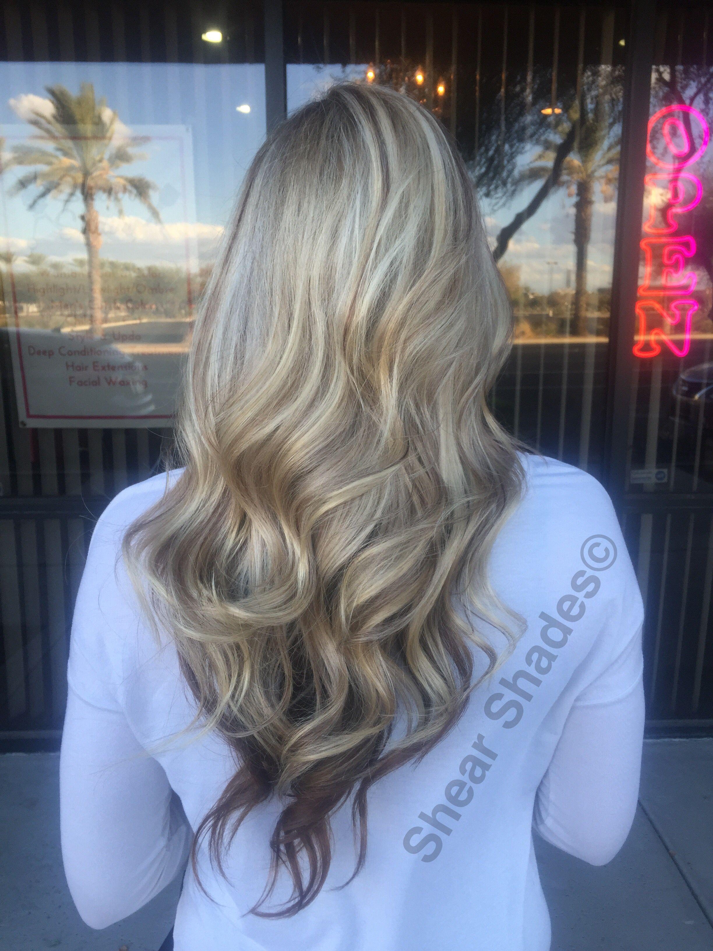 Chocolate blonde hair style on long hair. Platinum blonde hair ...