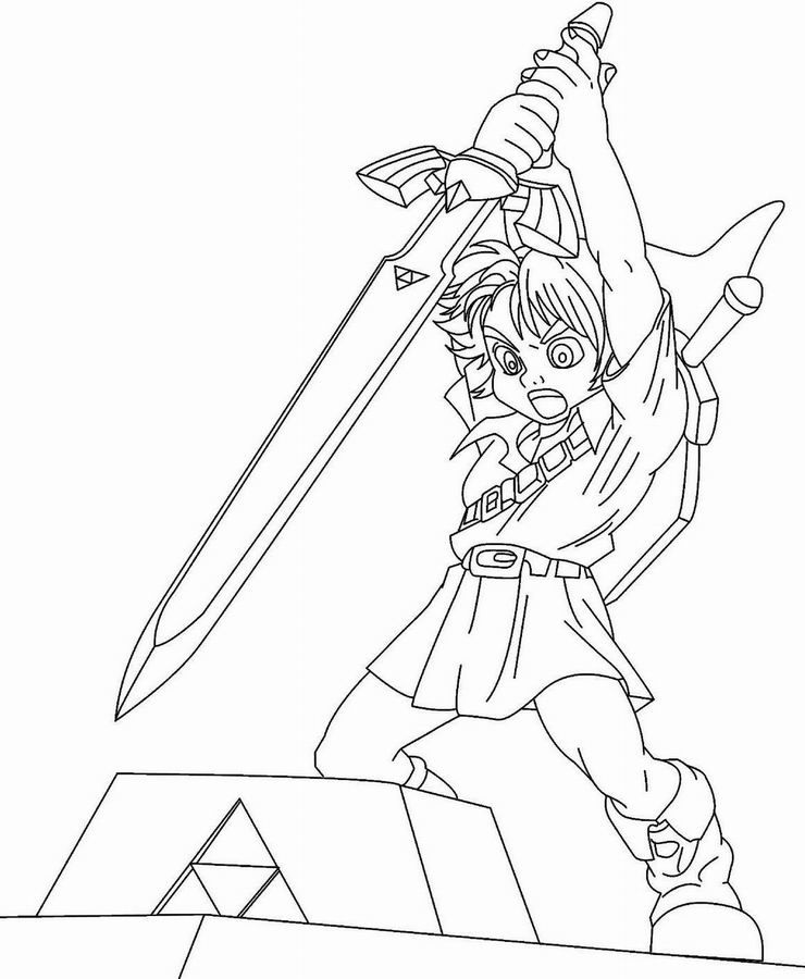 Coloriage 14 Dessin Zelda Lineart Zelda Link Coloring Pages