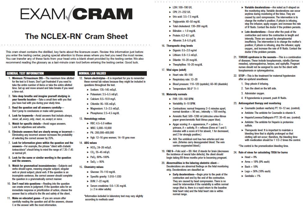 photograph about Nclex Cram Sheet Printable known as Check Cram RN NCLEX Nclex, Test cram, Nclex take a look at