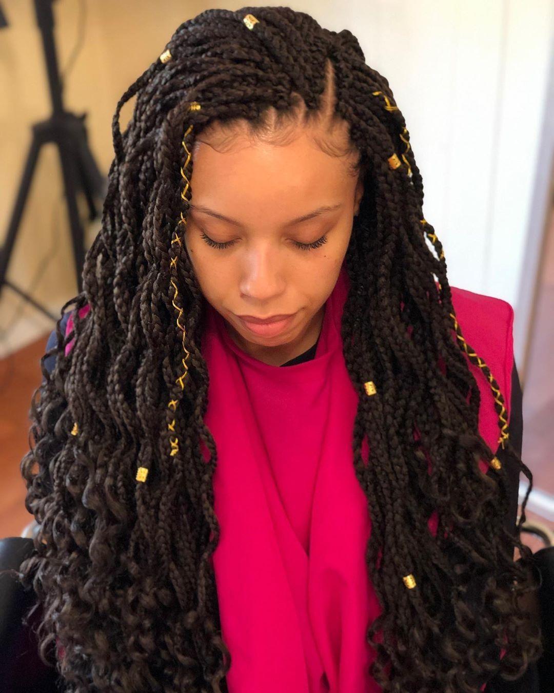 Goddess Box Braids Wave Box Braids With Free Ends Hair Beauty