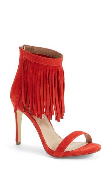 7e86ce14abb Steve Madden  Staarz  Ankle Fringe Sandal (Women)