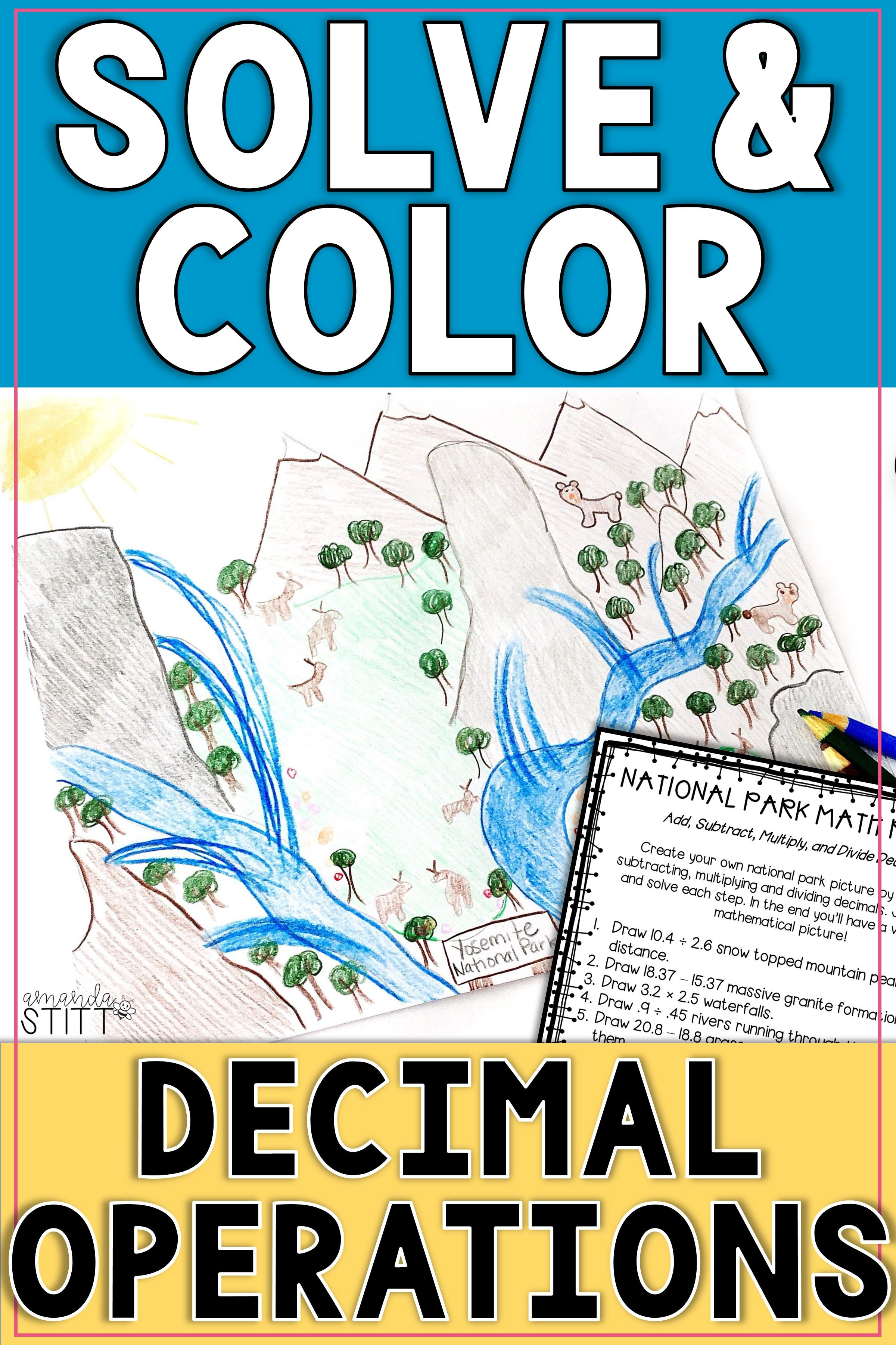 Solve And Color Decimal Operations