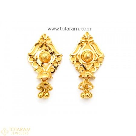 2bc124141 Gold Earrings for Women in 22K Gold - 235-GER7198 - Buy this Latest Indian  Gold Jewelry Design in 4.350 Grams for a low price of $287.05