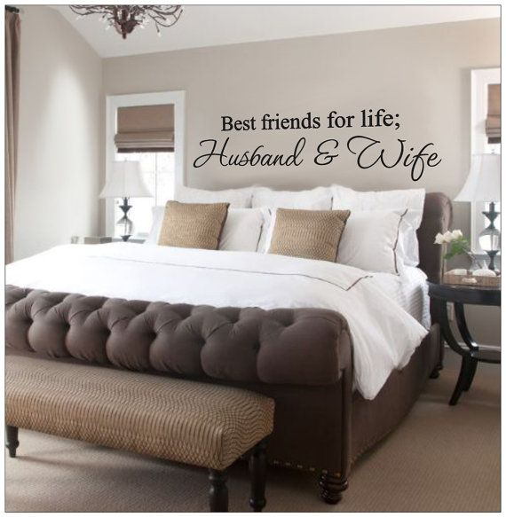 Bedroom Ideas Gray Sleigh Bed Bedroom Ideas Small Bedroom Wall Art Bedroom Bench Stool: Husband And Wife Best Friends For Life Wall By