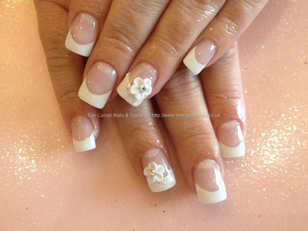 Acrylic nails with pink and white gel polish and roses on ring acrylic nails with pink and white gel polish and roses on ring finger beauty health pinterest paznokcie prinsesfo Images