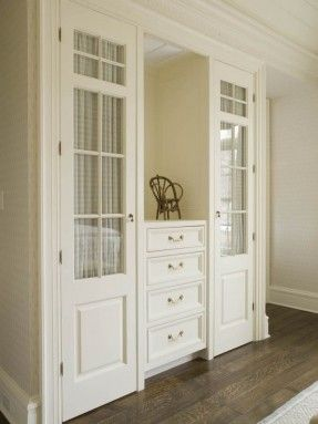 Hallway linen storage...have to have this when we build a house.