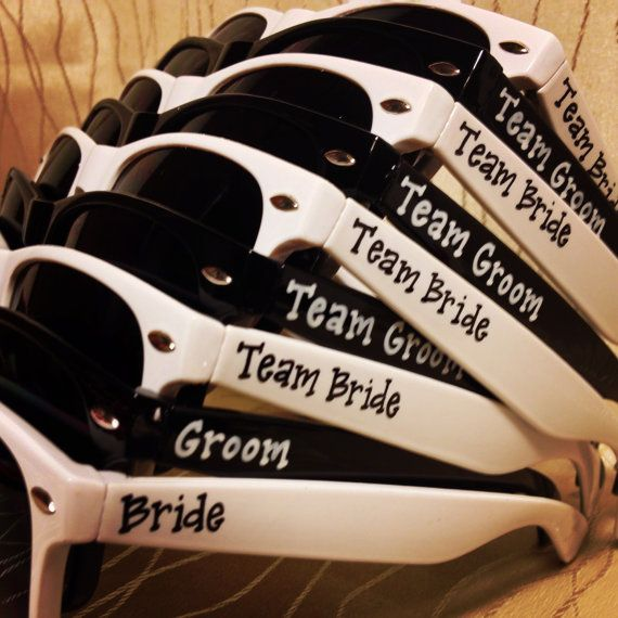 SALE 20% OFF!  Team Bride/Team Groom Bridal Party Game Day/Beer Olympics/Break the Ice/Field Day Sunglasses