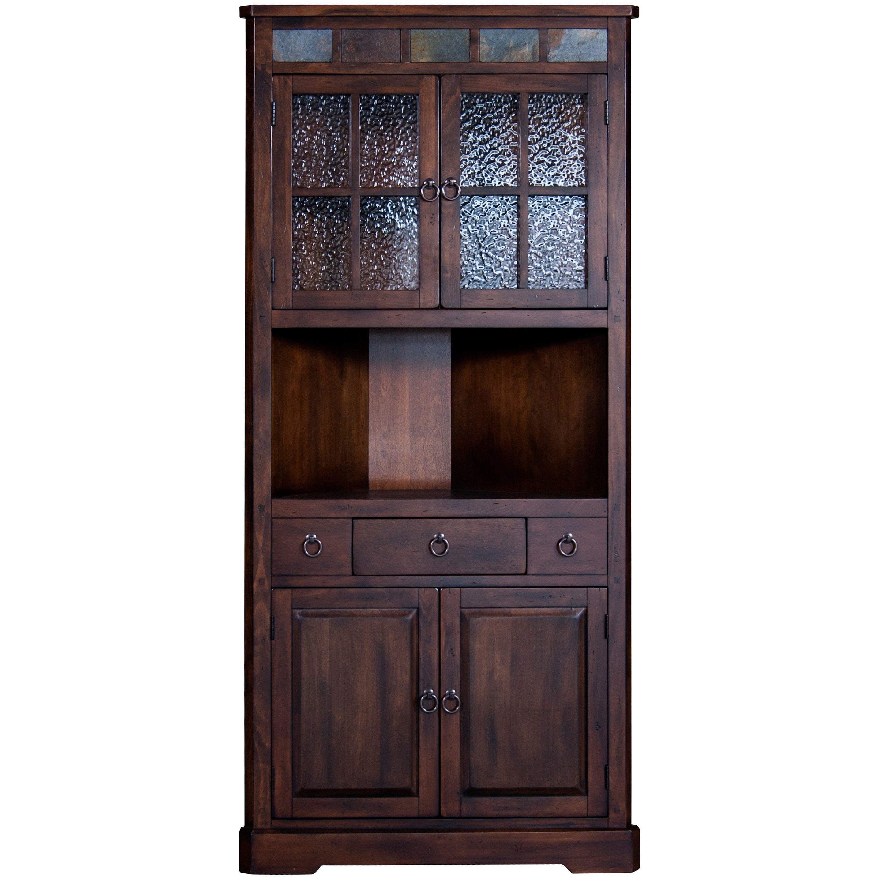 Sunny Designs Santa Fe Dark Brown Corner China Cabinet Dark