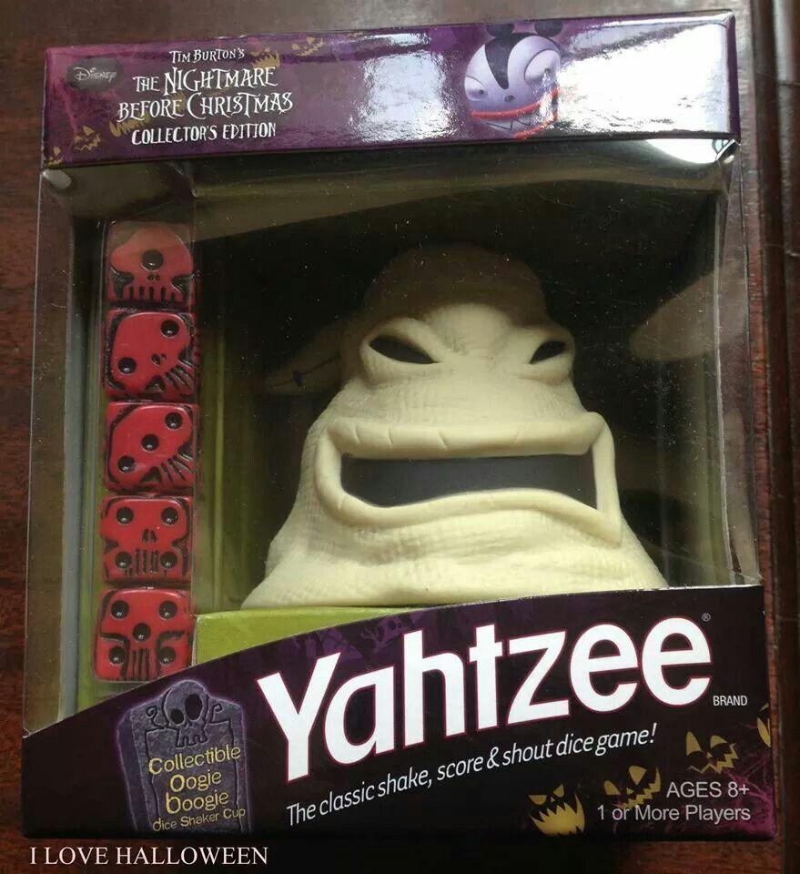 Oogie Boogie Yahtzee Game | The Nightmare Before Christmas ...