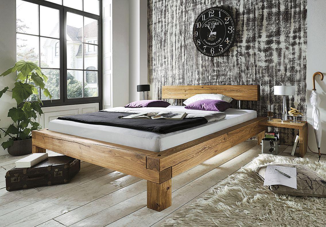 das doppelbett madea wird durch die markante balkenverarbeitung der bettecken zum echten. Black Bedroom Furniture Sets. Home Design Ideas