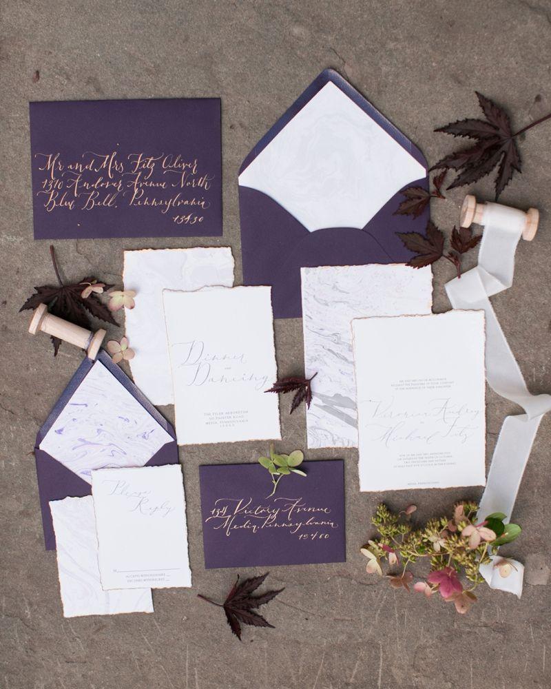 Romantic Berry Inspired Wedding Ideas | Purple wedding invitation ...