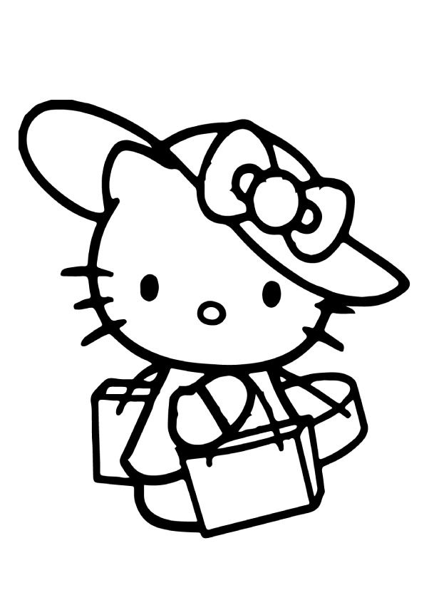 75 Cute Hello Kitty Coloring Pages Your Toddler Will Love