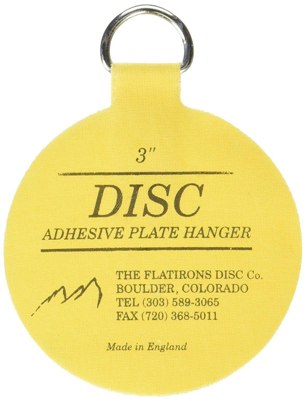 Invisible English Disc Adhesive Medium Plate Hanger Set (4 - 3 Inch ...