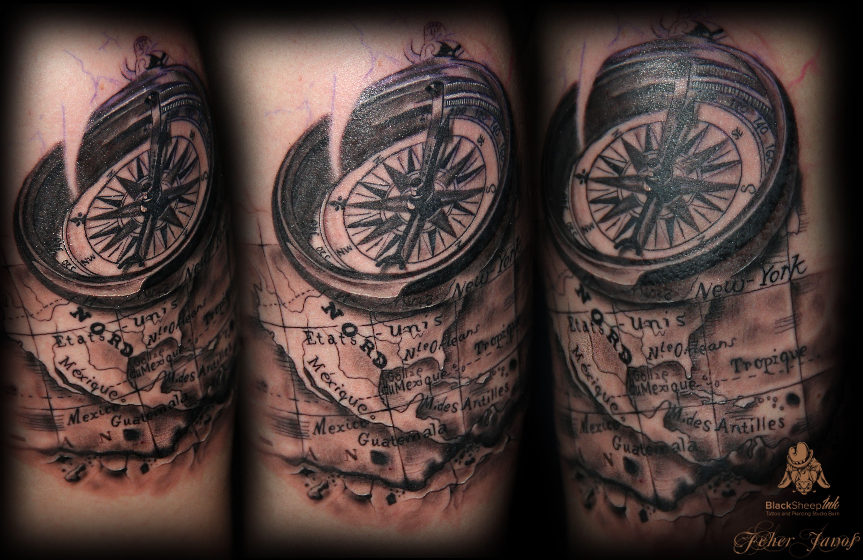 old compass tattoo - Google zoeken