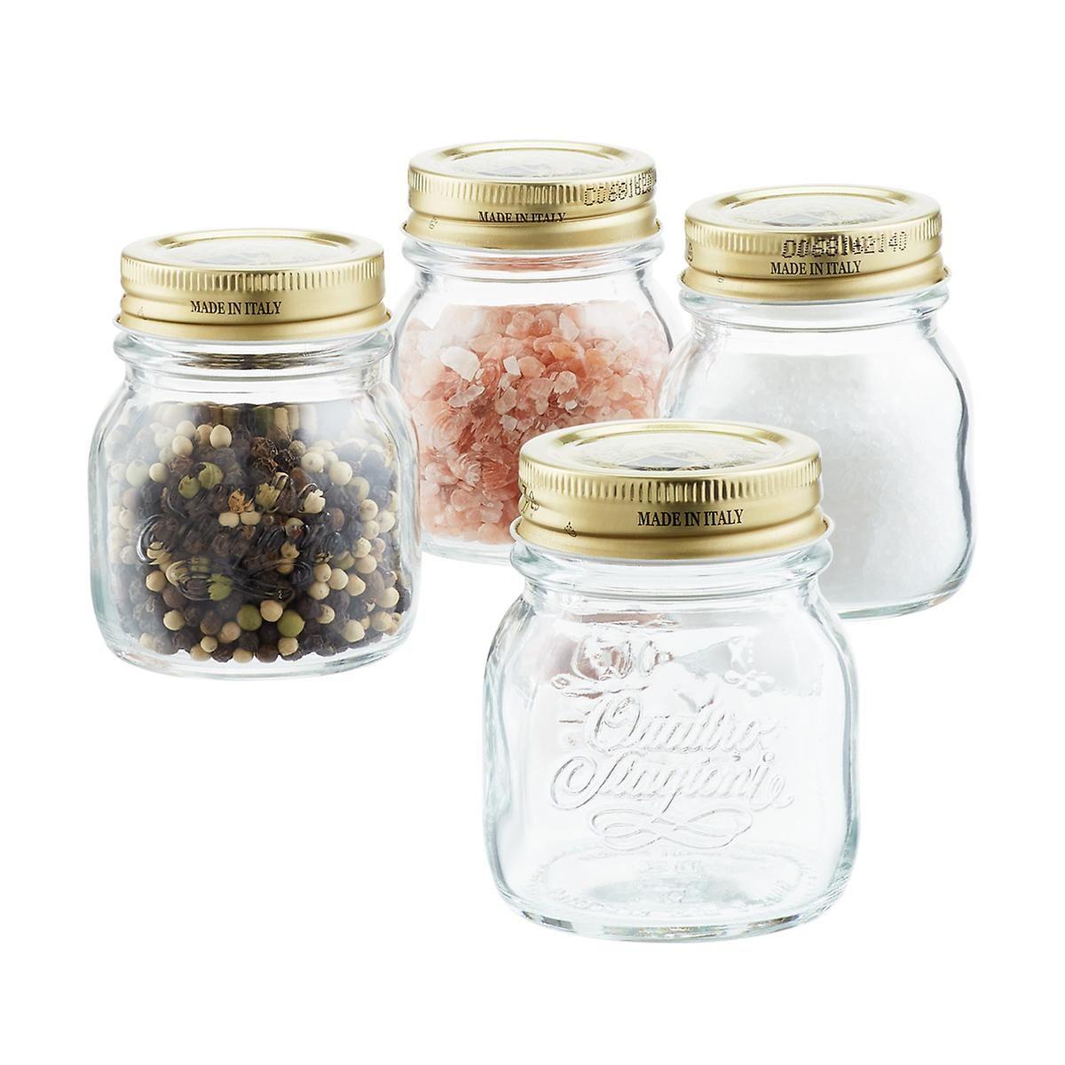 Quattro Stagioni 5 Oz Glass Spice Jar Spice Jars Glass Spice Jars Jar