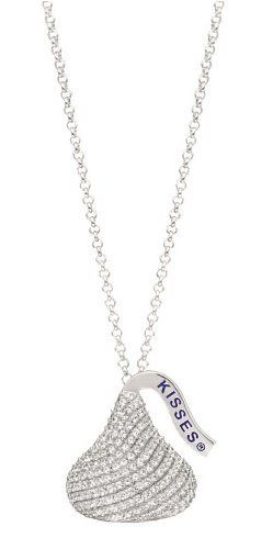 Hershey's Kiss Jewelry Sterling Silver with CZ Large 3D Shaped Pendant Hershey's. $379.99