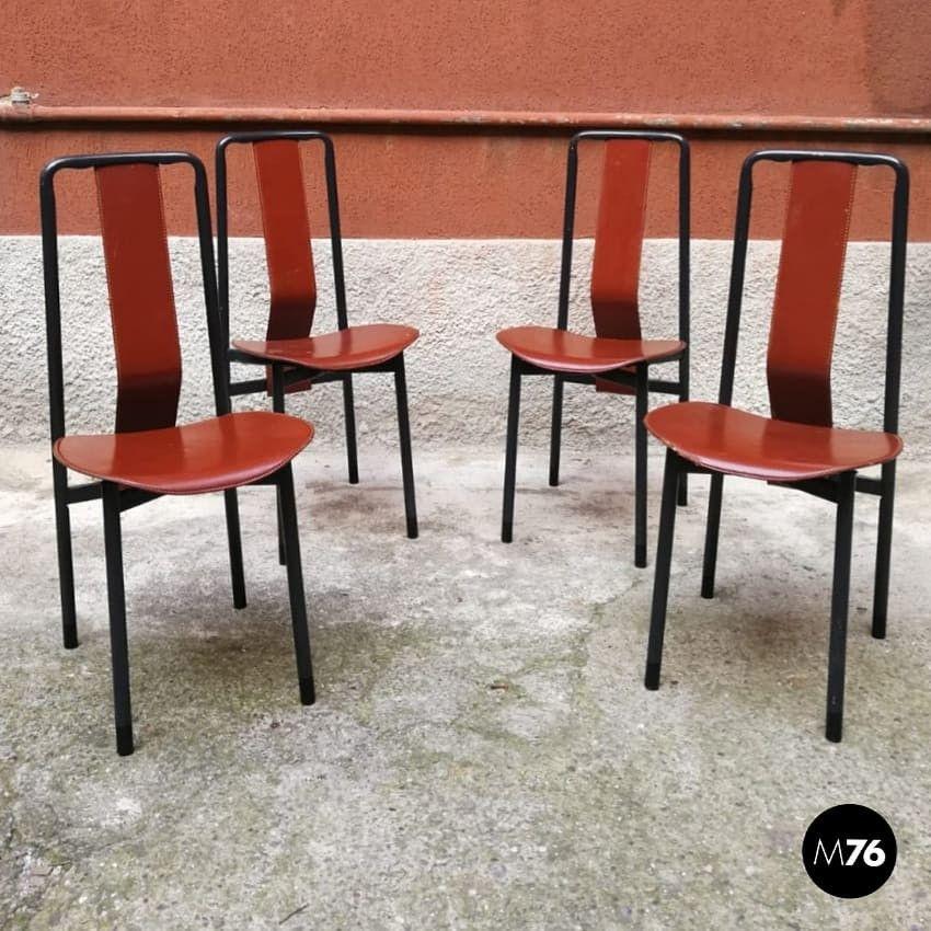 Sedie In Ferro Vintage.Anno Nuovo Sedie Nuove Un Set Di 4 Sedie Anni 70 80 In Tubolare