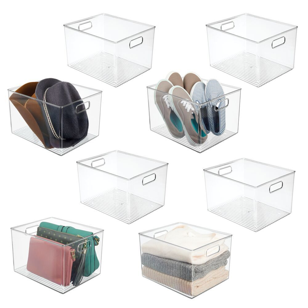 Plastic Bedroom Closet Storage Organizer Bin 12 X 10 X 8 Bedroom Closet Storage Closet Bedroom Storage Baskets