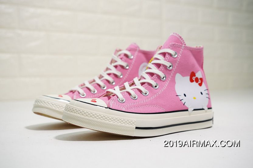 the best attitude cd8b3 263c4 Hello Kitty X Converse Chuck Taylor 1970 High 162136C Womens Girls Canvas  Shoes Pink Free Shipping