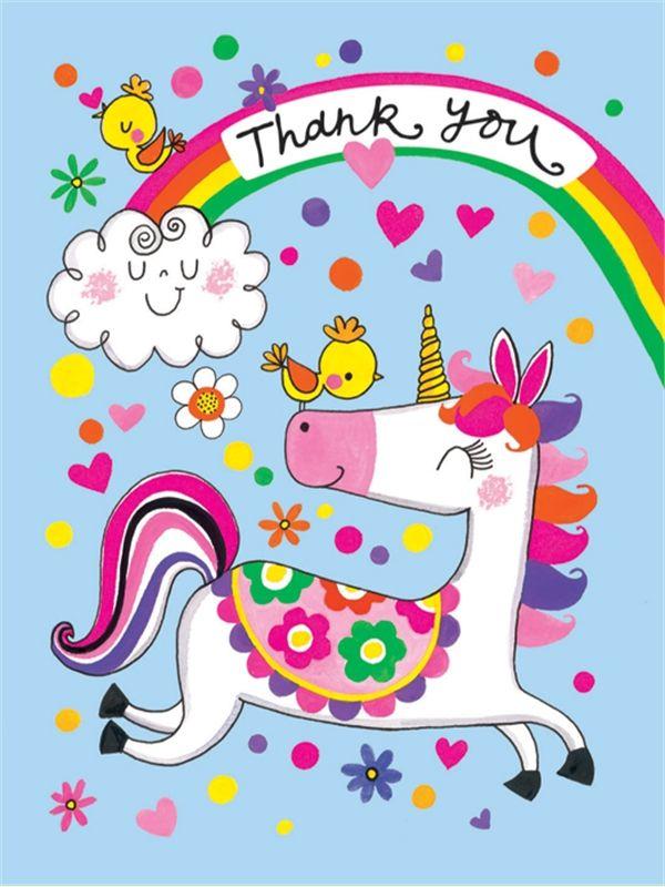 Rachel Ellen Mini Tropical Flamingo Thank You Cards Girls Party Note Card 5 Pack