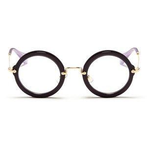 miu miu metal temple round acetate frame optical glasses - Miu Miu Glasses Frames