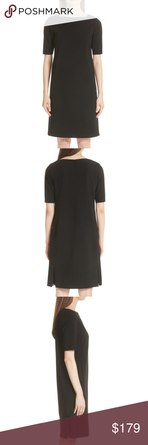 Lafayette 148 Ny Cyra Lace Panel Black Dress Xl Clothes Design Black Dress Lace Panelled [ 1740 x 580 Pixel ]