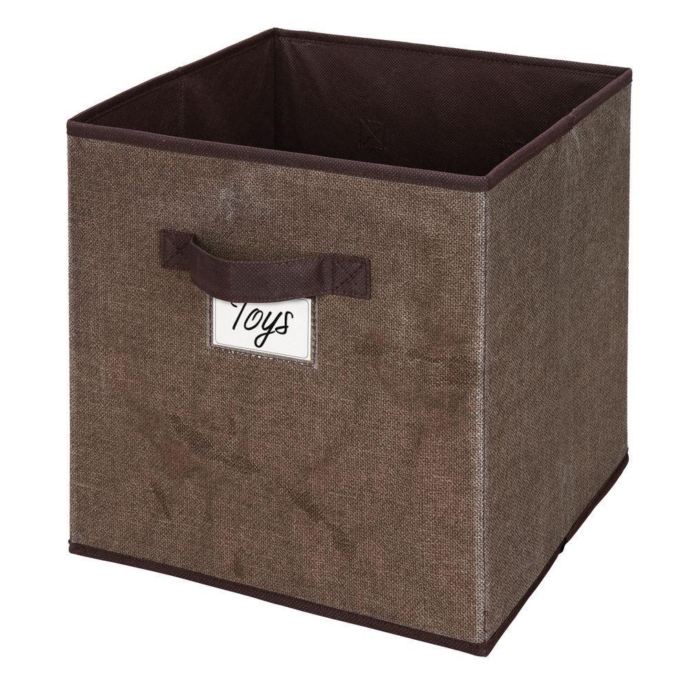 12 In. X 12 In. Storage Box Cube In Espresso (Brown)