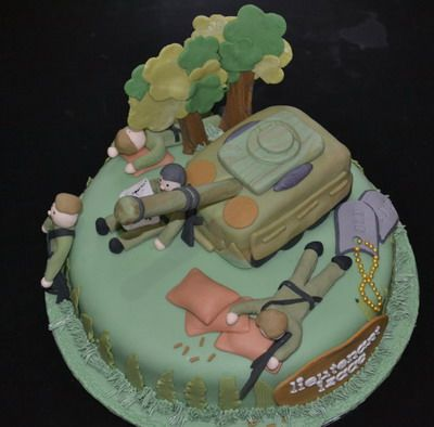 Army Cake CakeArmyNavyMarines Airforce and Coast Guard