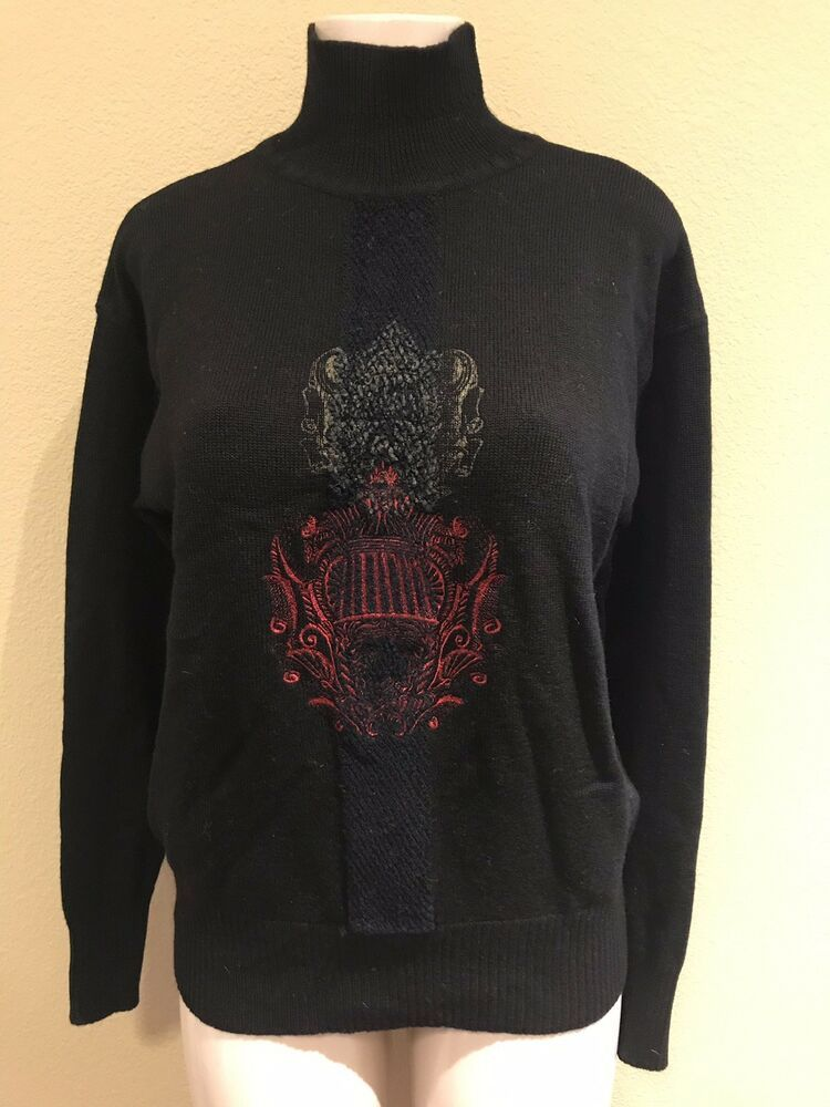 a1826626741f GIANFRANCO FERRE Vintage Made In Italy Blk Wool Turtleneck Sweater US S EU  48  fashion  clothing  shoes  accessories  mensclothing  sweaters (ebay  link)