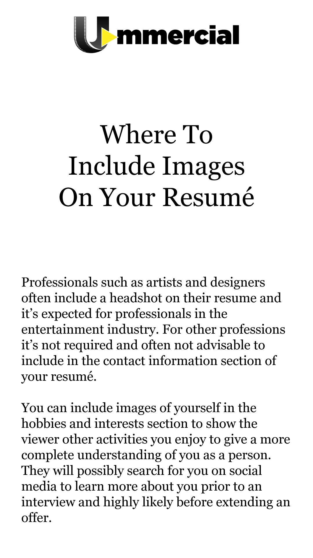 Send Us Your Resume For A Free Evaluation To Sample Ummercial Com